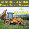 Thumbnail Case 580D 580SD 580 Super D TLB Tractor SERVICE MANUAL & PARTS Catalog -2- MANUALS - DOWNLOAD