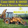 Thumbnail Case 580D 580SD 580 Super D TLB Tractor SERVICE MANUAL & PARTS Catalog -2- MANUALS - DOWNLOAD