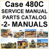 Thumbnail Case 480C Tractor Loader Backhoe SERVICE & PARTS -2- MANUALS - IMPROVED - DOWNLOAD