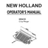 Thumbnail New Holland H5410 Crop Merger Operator Owner User Manual - DOWNLOAD