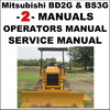 Thumbnail Mitsubishi BD2G & BS3G SERVICE Repair Manual & OWNERS Operator Manual -2- Manuals -IMPROVED - DOWNLOAD