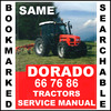 Thumbnail Same Dorado 66 76 86 Power Shuttle Tractor Workshop Service Repair Manual - IMPROVED - DOWNLOAD