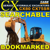 Thumbnail Case CX75SR and CX80 Hydraulic Excavators Service Workshop Manual - DOWNLOAD