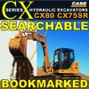 Thumbnail Case CX75SR and CX80 Hydraulic Excavators Service Workshop Manual - DOWNLOAD
