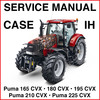 Thumbnail Case Puma 165 180 195 210 225 CVX Tractors Repair Workshop Service Manual - DOWNLOAD