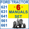 Thumbnail Ford 621 631 641 651 661 Tractor SERVICE PARTS OWNERS -6- Manuals - DOWNLOAD