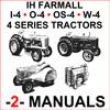 Thumbnail IH Farmall 4 Series - I4, IU4, O4, OS4, U4, W4, Super W4 Tractor SERVICE & SHOP Manual -2- MANUALS - DOWNLOAD