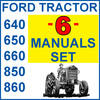 Thumbnail Ford 640 650 660 850 & 860 Tractor SERVICE, PARTS, OWNERS -6- MANUALS - DOWNLOAD