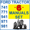 Thumbnail Ford 741 771 941 971 981 Tractor SERVICE, PARTS, OWNERS -6- MANUALS - DOWNLOAD