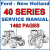 Thumbnail Ford New Holland 40 Series Tractor Service Repair IMPROVED Manual - 1492 PAGES - DOWNLOAD