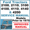 Thumbnail Ford 2100 2110 3100 4100 4110 4140 4200 Tractor Service Repair Shop Manual - IMPROVED - DOWNLOAD