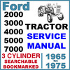 Thumbnail Ford 2000 3000 3400 3500 3550 4000 4400 4500 5000 5500 5550 7000 Tractor Service Workshop Manual - IMPROVED - DOWNLOAD