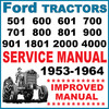 Thumbnail Ford 501 600 601 700 701 800 801 900 901 2000 4000 Tractor SERVICE MANUAL - IMPROVED SEARCHABLE - DOWNLOAD