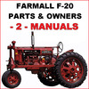 Thumbnail IH Farmall F-20 Tractor ILLUSTRATED PARTS & OWNERS INSTRUCTION -2- MANUALS - DOWNLOAD