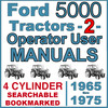 Thumbnail Ford 5000 4 Cylinder Tractor OWNERS & OPERATORS -2- Manuals 1965-75 - DOWNLOAD