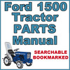 Thumbnail Ford 1500 Compact Tractor Illustrated Parts List Manual Catalog - IMPROVED - DOWNLOAD