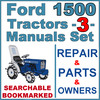 Thumbnail Ford 1500 Tractor Service, Parts & Operator Manual -3- Manuals - IMPROVED - DOWNLOAD