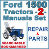 Thumbnail Ford 1500 Tractor Service & Parts Catalog Manual -2- Manuals - IMPROVED - DOWNLOAD