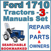 Thumbnail Ford 1710 Tractor Service, Parts & Operator Manual -3- Manuals - IMPROVED - DOWNLOAD