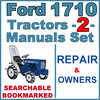 Thumbnail Ford 1710 Tractor Service & Operator Manual -2- Manuals - IMPROVED - DOWNLOAD