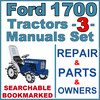 Thumbnail Ford 1700 Tractor Service, Parts & Operator Manual -3- Manuals - IMPROVED - DOWNLOAD