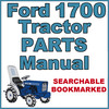 Thumbnail Ford 1700 Compact Tractor Illustrated Parts List Manual Catalog - IMPROVED - DOWNLOAD
