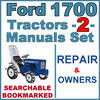 Thumbnail Ford 1700 Tractor Service Repair & Operator Manual -2- Manuals - IMPROVED - DOWNLOAD