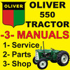 Thumbnail Oliver 550 Tractor SERVICE & SHOP & PARTS Manual Catalog -3- Manuals - IMPROVED - DOWNLOAD