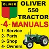 Thumbnail Oliver 550 Tractor SERVICE, SHOP, OPERATOR & PARTS Manual Catalog -4- Manuals - IMPROVED - DOWNLOAD