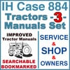 Thumbnail IH International Case 884 Tractor SERVICE, SHOP, OPERATOR Manual -3- Manuals - IMPROVED - DOWNLOAD