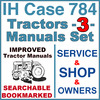 Thumbnail IH International Case 784 Tractor SERVICE, SHOP, OPERATOR Manual -3- Manuals - IMPROVED - DOWNLOAD
