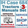 Thumbnail IH International Case 684 Tractor SERVICE, SHOP, OPERATOR Manual -3- Manuals - IMPROVED - DOWNLOAD