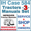Thumbnail IH International Case 584 Tractor SERVICE, SHOP, OPERATOR Manual -3- Manuals - IMPROVED - DOWNLOAD