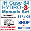 Thumbnail IH International Case Hydro 84 Tractor SERVICE, SHOP, OPERATOR Manual -3- Manuals - IMPROVED - DOWNLOAD