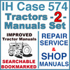 Thumbnail IH International Case 574 Tractor REPAIR SERVICE & SHOP Manual -2- Manuals - IMPROVED - DOWNLOAD