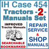 Thumbnail IH International Case 454 Tractor REPAIR SERVICE & SHOP Manual -2- Manuals - IMPROVED - DOWNLOAD