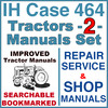 Thumbnail IH International Case 464 Tractor REPAIR SERVICE & SHOP Manual -2- Manuals - IMPROVED - DOWNLOAD