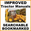 Thumbnail Collection of 2 files - Case 580k Phase 3 III Tractor Repair Service Manual & Illustrated Parts Catalog - DOWNLOAD
