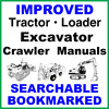 Thumbnail Collection of 2 files - Case CX75SR Tier 3 Crawler Excavator FACTORY Repair Service Manual & Operators Manual - IMPROVED - DOWNLOAD