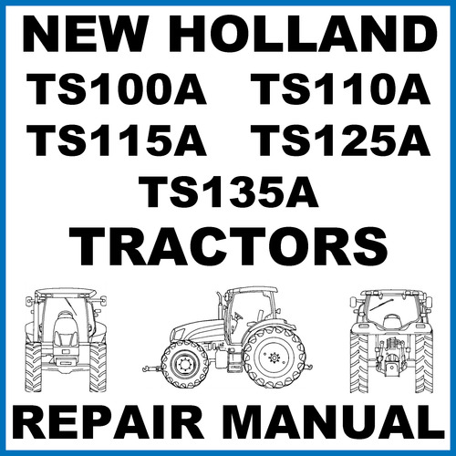 new ts100a ts110a ts115a ts125a ts135a tractors service wor