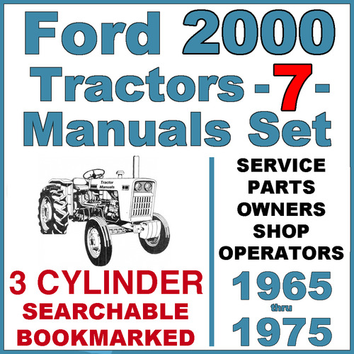ford 2000 3 cylinder tractor service parts catalog owners 7 man rh tradebit com ford 2000 tractor owners manual pdf ford 2000 tractor manual free