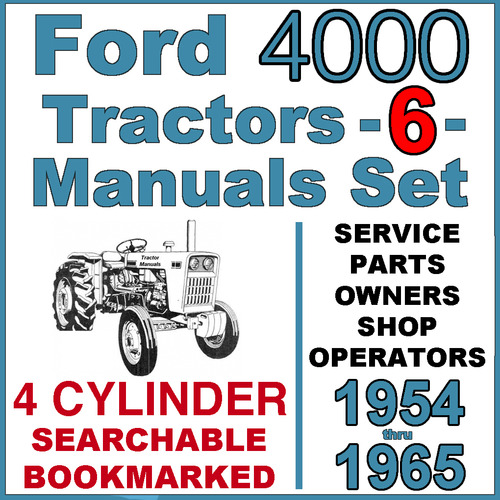 ford  series  cylinder tractor service parts owners