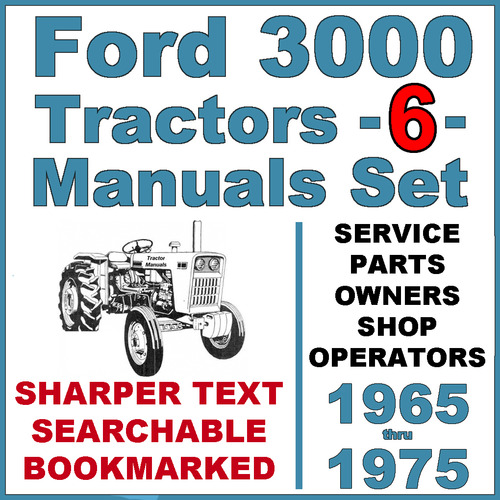 ford 3000 3 cylinder tractor service parts catalog owners 6 man rh tradebit com Owner's Manual Ford 3000 Ford 3000 Manual Online