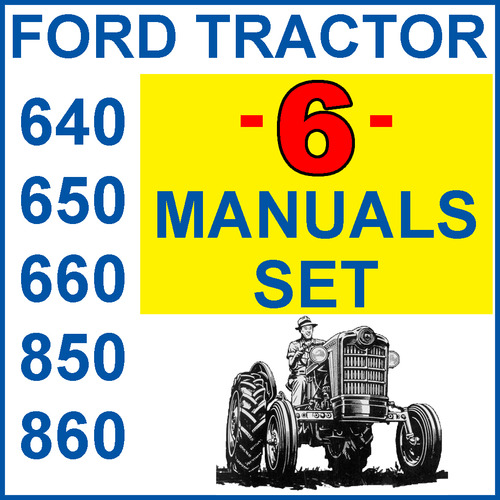 Ford 860 Tractor Parts Diagrams : Ford  tractor service parts owners