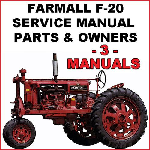 ih farmall f 20 tractor service parts owners 3 manuals downlo rh tradebit com farmall m tractor repair manual pdf farmall m tractor manual