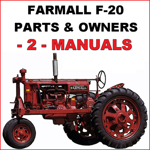 pay for ih farmall f-20 tractor illustrated parts & owners instruction -2-