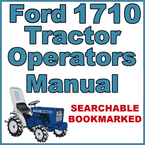 ford  tractor owners operators maintenance manual