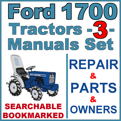 ford 1700 tractor service parts operator manual 3 manuals im rh tradebit com Ford 1700 Tractor Hydraulic Filter 1700 Ford Tractor Engine Repairs