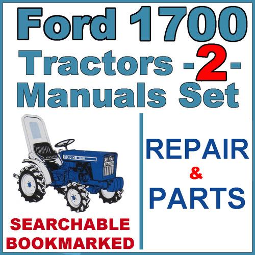 Ford 1700 Tractor Service Repair  U0026 Parts Catalog Manual