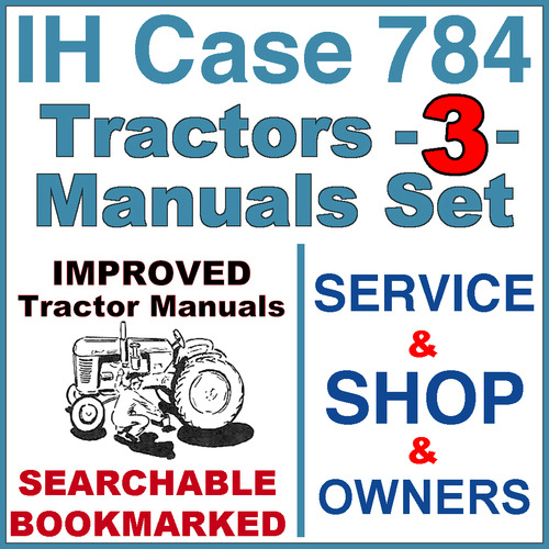 Pay for IH International Case 784 Tractor SERVICE, SHOP, OPERATOR Manual -3- Manuals - IMPROVED - DOWNLOAD